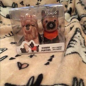 American atelier dog salt and pepper shakers